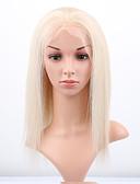 billige Kjoler til brudens mor-Remy hår Blonde Front Paryk Lige 130% Massefylde 100 % håndbundet Afro-amerikansk paryk Natural Hairline Kort Medium Lang Dame