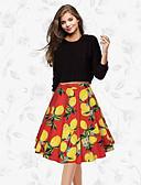 preiswerte Damen Röcke-Damen Schaukel Röcke - Blumen, Druck