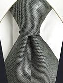 levne Pánské motýlky a kravaty-Pánské Party Pracovní Základní Základní Kravata - Jednobarevné Žakár Umělé hedvábí