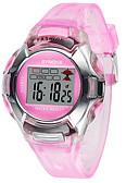 preiswerte Modische Uhren-Damen digital Digitaluhr Armbanduhren für den Alltag Caucho Band Elegant Modisch Schwarz Blau Rot Grün Rosa Lila