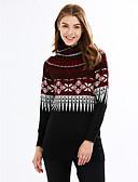 voordelige Bovenkleding voor dames-Dames Grote maten Street chic Coltrui Lange mouw Lang Pullover - Print / Lente / Herfst / Print