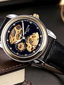 baratos Quartz-Homens Relógio de Pulso Quartzo Relógio Casual Couro Banda Analógico Casual Fashion Preta / Marrom - Branco Preto Azul