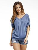 baratos Camisetas Femininas-Mulheres Camiseta - Para Noite Sofisticado Sólido