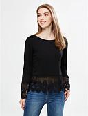 baratos Blusas Femininas-Mulheres Camisa Social Camadas, Sólido
