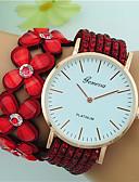 cheap Fashion Watches-Women's Bracelet Watch Large Dial Leather Band Flower / Bohemian Black / White / Blue / One Year / Tianqiu 377