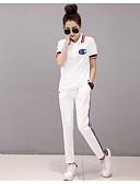 preiswerte Damen zweiteilige Anzüge-Damen Kapuzenshirt - Solide Hose / Sommer / Sportlicher Look
