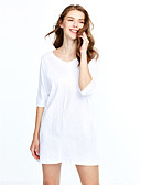 cheap Women's Dresses-Women's Casual Loose Dress - Solid Colored