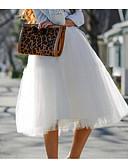 tanie Damska spódnica-Damskie Puszysta Linia A Spódnice Solidne kolory Wysoka talia