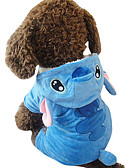 cheap Men's Shirts-Dog Costume Dog Clothes Animal Blue Plush Fabric Costume For Pets Cosplay