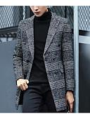 billige Herrejakker og -frakker-Herre Houndstooth mønster Frakke Bomuld
