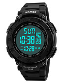 cheap Military Watches-SKMEI Men's Sport Watch / Military Watch / Wrist Watch Japanese Alarm / Calendar / date / day / Chronograph PU Band Fashion Black / Water Resistant / Water Proof / Dual Time Zones / Stopwatch