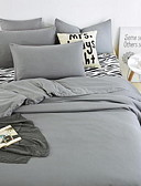 cheap Men's Polos-Solid 4 Piece Cotton Cotton 1pc Duvet Cover 2pcs Shams 1pc Flat Sheet
