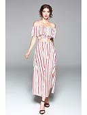 cheap Women's Bottoms-Women's T-shirt - Striped, Ruffle Skirt