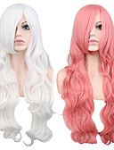 cheap Women's Bottoms-Synthetic Wig Wavy Synthetic Hair White / Pink Wig Women's Long Capless