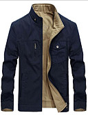 cheap Men's Jackets & Coats-Men's Simple Jacket - Solid Colored Stand / Long Sleeve