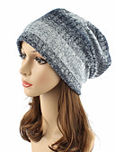 cheap Fashion Hats-Women's Headwear Cute Chic & Modern Knitwear Cotton Beanie / Slouchy Floppy Hat - Striped Stripe