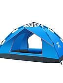 preiswerte Hochzeit Schals-3-4 Personen Draussen Zelt Wasserdicht Tragbar Feuchtigkeitsundurchlässig Einzimmer Doppellagig 1000-1500 mm Camping Zelt zum Camping & Wandern Fiberglas