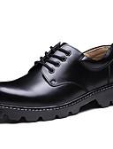 baratos Camisetas & Regatas Masculinas-Homens Sapatos formais Couro Outono / Inverno Colegial Oxfords Preto / Festas & Noite