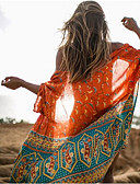 cheap Women's Swimwear & Bikinis-Women's Boho Boho Orange Cover-Up Swimwear - Geometric Print One-Size