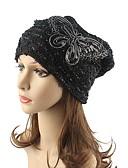זול צעיפים לנשים-כובע צמר / כובע עם שוליים רחבים - פסים כותנה פאייטים ביגוד לראש / שיק ומודרני / סריגים בגדי ריקוד נשים / חמוד / סתיו / חורף