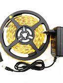 olcso Munkaruhák-HKV 5 m LED-es szalagfények 300 LED 3528 SMD Meleg fehér / Fehér Cuttable / Öntapadós 12 V