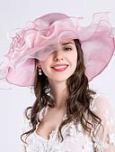olcso Női ruhák-Soros / Selyem / Organza Fascinators / Kalap / Fejfedők val vel Virág 1db Esküvő / Különleges alkalom / Party / estély Sisak