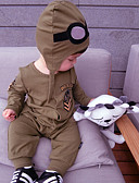 cheap Baby Girls' Clothing Sets-Baby Boys' Cartoon Solid Color / Fashion Long Sleeve Overall & Jumpsuit / Toddler