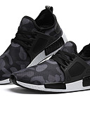 cheap Leggings-Men's Light Soles Tulle Spring / Summer / Fall Comfort Athletic Shoes Running Shoes Black / Army Green