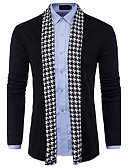 baratos Camisas Masculinas-Homens Manga Longa Lã Carregam - Estampa Colorida Lã