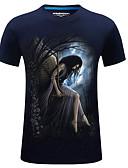 baratos Camisetas & Regatas Masculinas-Homens Tamanhos Grandes Camiseta Estampado, Sólido Algodão Decote Redondo