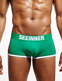 cheap Men's Underwear & Socks-Men's Super Sexy Boxer Briefs Solid Colored