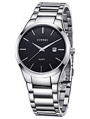 cheap Dress Watches-CURREN Men's Sport Watch Wrist Watch Quartz Calendar / date / day Creative Cool Stainless Steel Band Analog Luxury Casual Fashion Silver - White Black