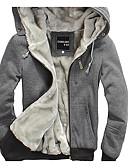 cheap Men's Hoodies & Sweatshirts-Men's Casual Long Sleeves Hoodie - Solid Colored Hooded
