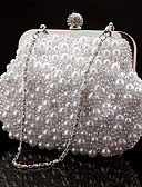 cheap Men's Hoodies & Sweatshirts-Women's Bags Special Material Evening Bag Rhinestone / Chain White / Black / Beige
