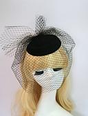 זול חולצה-שרף / כותנה מפגשים / כובעים עם 1 חתונה / אירוע מיוחד / Halloween כיסוי ראש