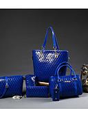 お買い得  コート、トレンチコート-女性用 バッグ PU ショルダーバッグ 5個の財布セット のために カジュアル アウトドア オールシーズン ブルー ブラック
