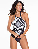 cheap Bikinis-Women's One Piece Swimsuit Bodysuit Swimming Diving Surfing Geometric Summer