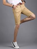 baratos Calças e Shorts Masculinos-Homens Moda de Rua Reto Shorts Calças - Sólido