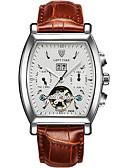levne Kůže-Pánské mechanické hodinky Hodinky s lebkou Módní hodinky Sportovní hodinky Automatické natahování Kalendář Voděodolné Svítící Pravá kůže