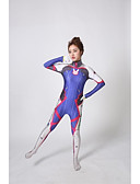 cheap Zentai Suits-Zentai Suits Patterned Zentai Suits Cosplay Costume Super Heroes Ninja Cosplay Adults' Cosplay Costumes Sex Blue Print Other Spandex Lycra Men's Women's Christmas Halloween Carnival / Catsuit