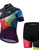 cheap Fashion Belts-Miloto Men's Short Sleeves Cycling Jersey with Shorts - Black/Pink Bike Padded Shorts / Chamois Clothing Suits Summer, Polyester Spandex