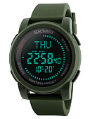 cheap Sport Watches-SKMEI Men's Sport Watch / Military Watch / Wrist Watch Japanese Alarm / Calendar / date / day / Chronograph Silicone Band Casual / Fashion Black / Green / Water Resistant / Water Proof / Compass