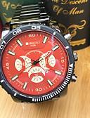 cheap Quartz Watches-JUBAOLI Men's Sport Watch Wrist Watch Quartz Cool Large Dial Stainless Steel Band Analog Casual Fashion Black - Orange Dark Blue Red One Year Battery Life / SSUO LR626