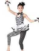cheap Leggings-Jazz Unitards Women's Performance Polyester / Spandex Pattern / Print / Ruffles / Polka Dot Sleeveless Natural Leotard / Onesie / Headwear / Neckwear