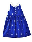 tanie Sukienki dla dziewczynek-Brzdąc Dla dziewczynek Kreskówki Nadruk Bez rękawów Bawełna Sukienka Niebieski