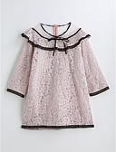 preiswerte Mode für Mädchen-Mädchen Solide 3/4 Ärmel Kleid