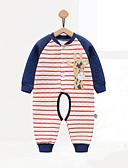baratos Macacões & Bodies de Bebê-bebê Para Meninos Peça Única Geométrico Inverno Outono Algodão Azul Amarelo