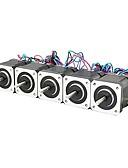 ieftine Tricou Bărbați-3d imprimanta nema 17 motor pas cu pas șurub liniar 2 fază 3d mașină de gravat imprimantă (ambalaj de 5 buc)