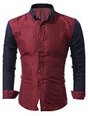 cheap Men's Shirts-Men's Cotton Shirt - Polka Dot Print