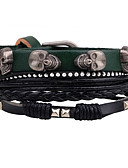 cheap Panties-Men's Rivet Wrap Bracelet Leather Bracelet - Leather Skull Personalized, Rock, Fashion Bracelet Green For Casual Stage Street
